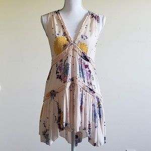 Free People Sleeveless Floral Tunic Top